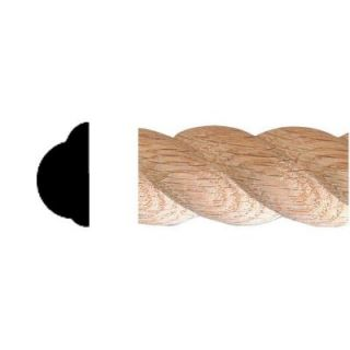 House of Fara 1/2 in. x 1 in. x 8 ft. Oak Carved Rope Moulding 9718