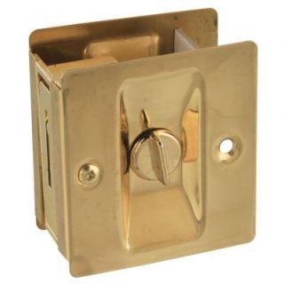 National Hardware Solid Brass Pocket Door Latch V1951 POCKET DR LTCH SB