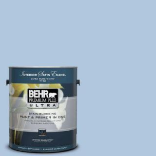 BEHR Premium Plus Ultra 1 Gal. #PPU14 13 Caspian Tide Satin Enamel Interior Paint 775001