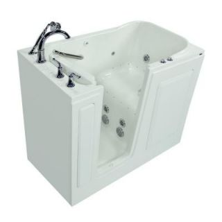 American Standard Exclusive Series 48 in. x 28 in. Walk In Whirlpool and Air Bath Tub with Quick Drain in White 2848.409.CLW PC