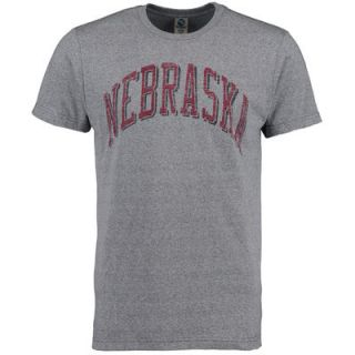 Nebraska Cornhuskers New Agenda Vintage School Name Tri Blend T Shirt   Gray