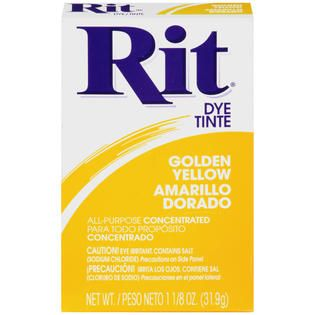 Rit All Purpose Concentrated Golden Yellow Dye 1.125 OZ BOX   Food