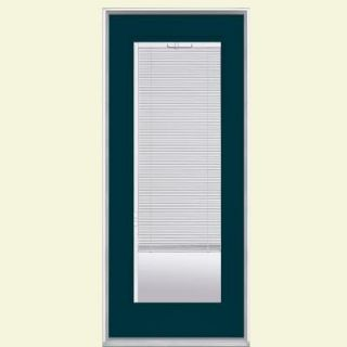 Masonite 32 in. x 80 in. Mini Blind Painted Steel Prehung Front Door with No Brickmold 30605