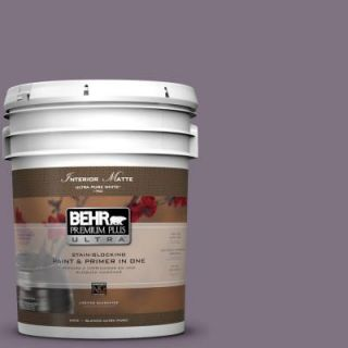 BEHR Premium Plus Ultra 5 gal. #N100 5 Plush Velvet Matte Interior Paint 175305