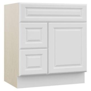 MasterBath Cambridge 30 in. W x 21.5 in. D x 33.5 in. H Vanity Cabinet Only with Drawers on Left in White EBL30 CWHT