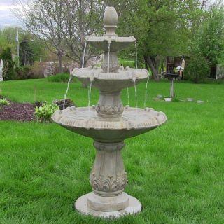 Sunnydaze Classic Pineapple Three Tier Fountain   18534011