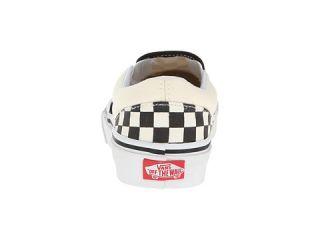 Vans Kids Classic Slip On (Little Kid/Big Kid) (Checkerboard) Black/White