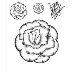 Heartfelt Creations Grandiflora Rose 1 Cling Rubber Stamp Set