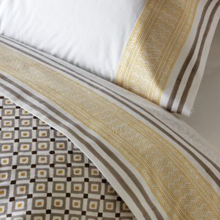 DwellStudio Blockprint Border Ochre Sheet Set