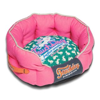 Touchdog Rabbit Spotted Premium Rounded Dog Bed   17413874