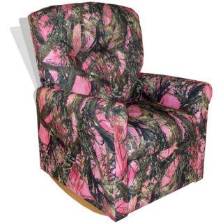 Dozydotes Contemporary Rocker Recliner   Camouflage Pink   Kids
