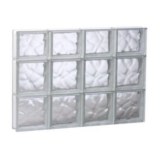 Clearly Secure 31 in. x 21.25 in. x 3.125 in. Wave Pattern Solid Glass Block Window 3222SDC