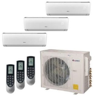GREE Multi 21 Zone 30,000 BTU 2.5 Ton Ductless Mini Split Air Conditioner with Heat, Inverter, Remote   230 Volt/60Hz MULTI30HP301