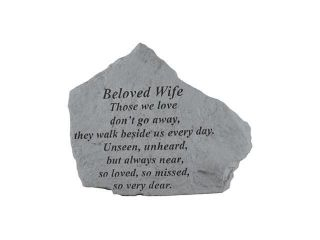 Kay Berry  Inc. 15420 Beloved Wife Those We Love   Memorial   6.875 Inches x 5.5 Inches