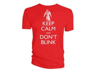 Doctor Who: Keep Calm Don't Blink Weeping Angel Mens T Shirt