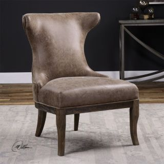 Uttermost 23271 Amery Weathered Brown Accent Chair