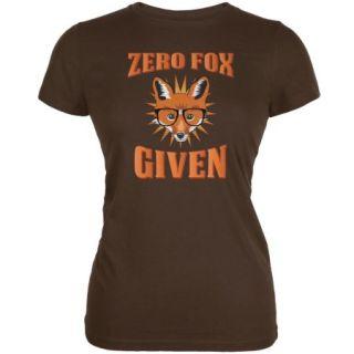 Zero Fox Given Brown Juniors Soft T Shirt