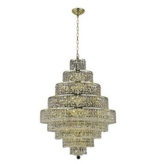Lighting by Pecaso 1734D30G Chantal 20 Light Hanging Chandelier in Gold