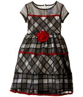 Us Angels Short Sleeve Jacquard Organza Dress Toddler Little Kids