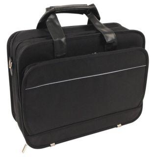 Black Ballistic Nylon Long Wear Laptop Briefcase   12123991